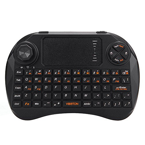 - Welcomeuni 1pc 2.4Ghz Mini Wireless Keyboard Touchpad Mouse for Smart TV PC Laptop Tablet (Black)