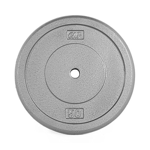 CAP Barbell Standard Free Weight Plate, 1-Inch, 50-Pound, Gray by CAP Barbell