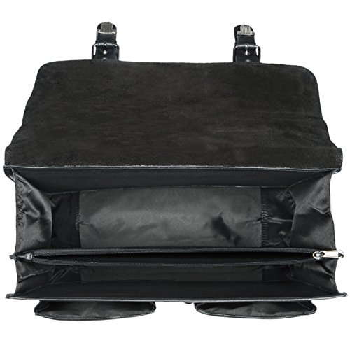 STILORD Karl Aktentasche Herren Lehrertasche Bürotasche Laptoptasche Umhängetasche XL Businesstasche Vintage groß aus echtem Leder , Farbe:kara - rot schwarz