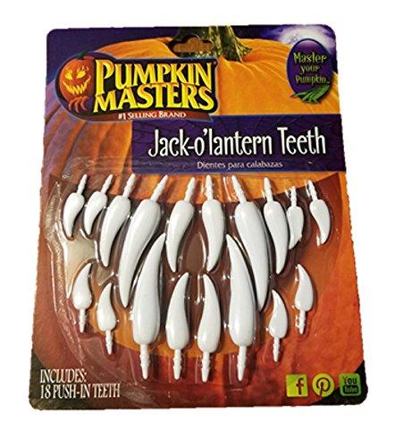 Pumpkin Master Americas Favorite Halloween Pumpkin Decorating Jack O Lantern Teeth Kit 107912