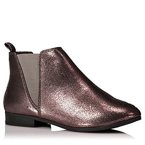 City Outlet Damen Chelsea Boots Bronze