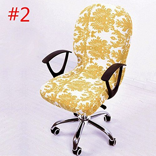 Wall of Dragon Elastic Office Chair Covers Seat Covers for Computer Chairs Stretch Rotating Chair Cover Office Computer Desk Seat Slipcover