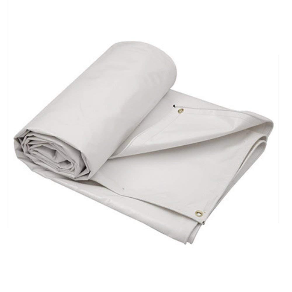 KYCD Tarpaulin Waterproof Heavy Duty - bianca Tarp Sheet - Copertura di qualità Premium Fatta di 500 g mq Tarpaulin (Dimensioni   3  6m)