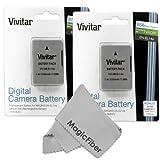 (2 Pack) Vivitar EN-EL14 / EN-EL14a Ultra High Capacity 2300mAH Li-ion Batteries for NIKON DSLR D5500 D5300 D5200 D5100 D3300, COOLPIX P7800 P7700, Nikon DF (Nikon EN-EL14 Replacement)
