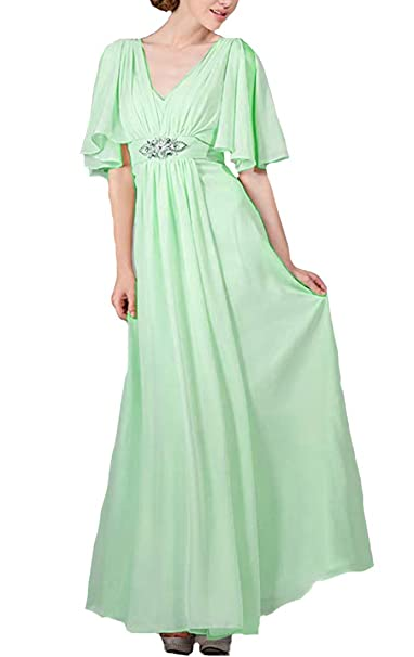 c325c5092a81 Lilyla Womens Long Mother Bride Dresses Half Sleeves Prom Bridesmaid  Dresses Mother at Amazon Women's Clothing store: