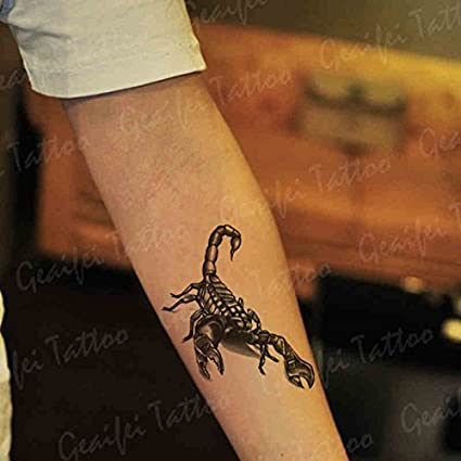 Zokey impermeable tatuaje temporal escorpión 3d realista ...