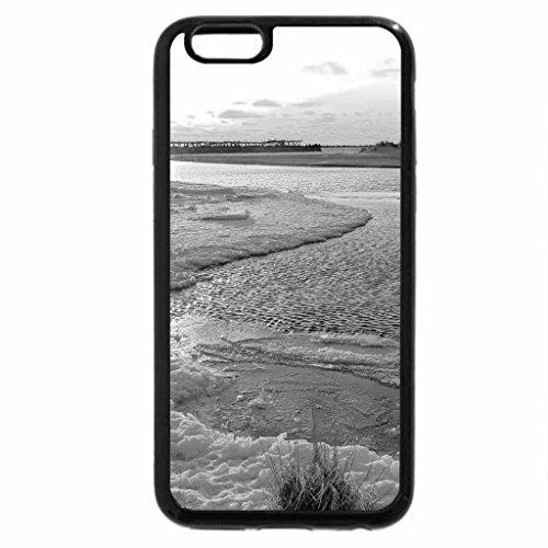 iPhone 6S Case, iPhone 6 Case (Black & White) - sventoji river lithuania in winter