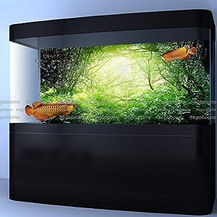 FidgetGear Green Green Forest Aquarium Poster Fish Tank Background PP Aquarium Decorations 60 x 24/ 152 x 61cm