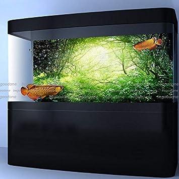 FidgetGear Póster Verde Bosque Acuario póster Fondo del Tanque de Peces PP decoración de Acuario: Amazon.es: Productos para mascotas