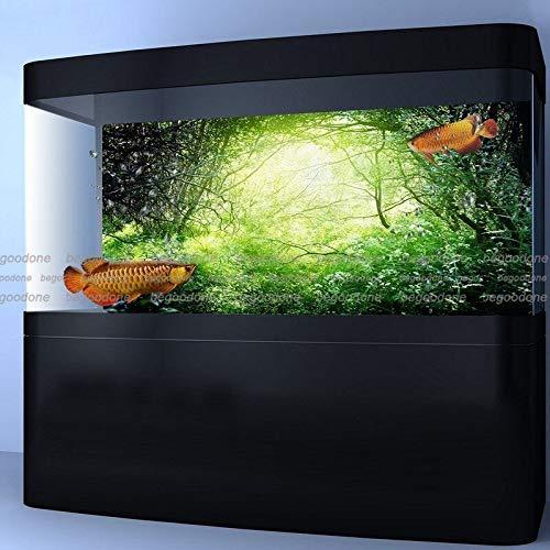 36\ FidgetGear Green Green Forest Aquarium Poster Fish Tank Background PP Aquarium Decorations 36  x 24   91 x 61cm