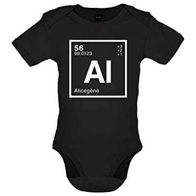 Alice - Élément Périodique - Bébé-Body - 7 Couleur - 0-18 mois