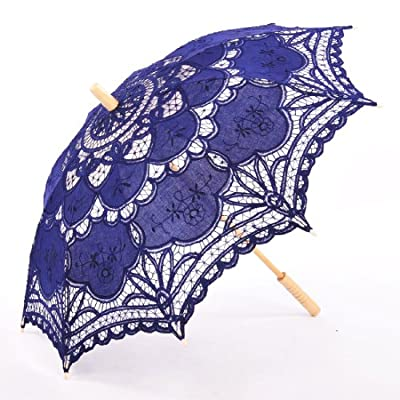 Topwedding Handmade Wedding Umbrella Parasol Victorian Lady Costume Accessory