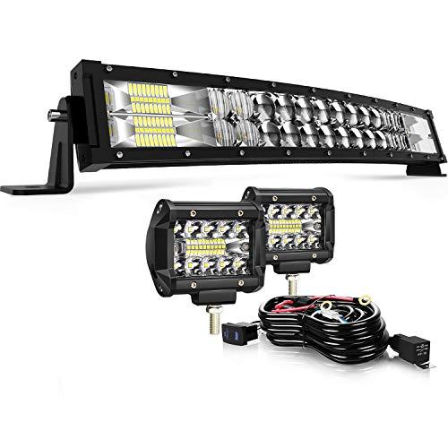"For 2014-18 Honda Pioneer 700 Roll Bar Cage 30/"" 32 inch 180W LED Light Bars"