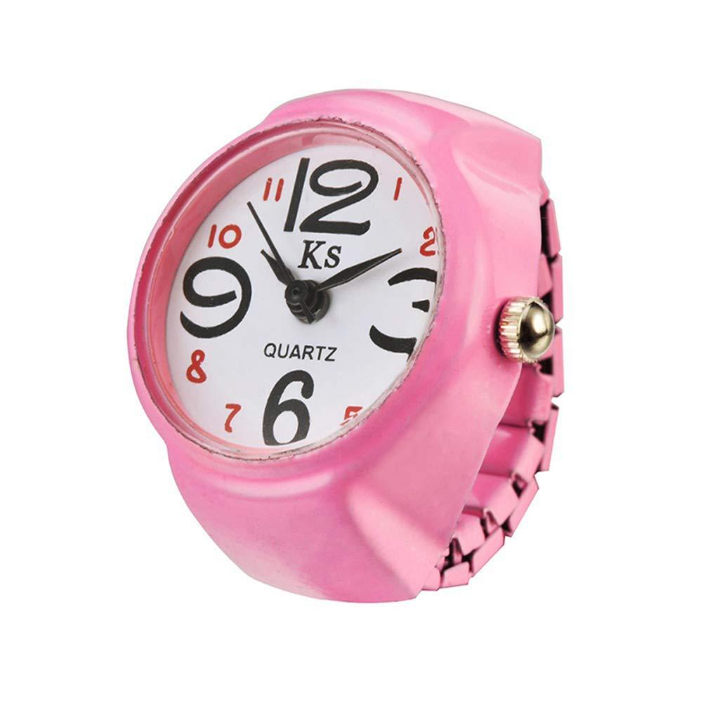 Simple Anillo Reloj Cuarzo de Anillo de Dedo Joyería Reloj Digital para Mujer Señora Ajustable Diámetro: 2.5cm: Amazon.es: Hogar