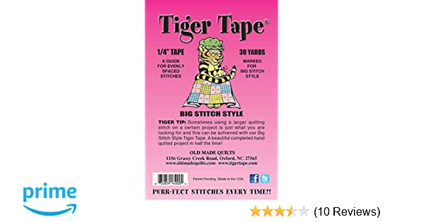 Tiger Tape Big Lined Stitching Tape 30 yards White