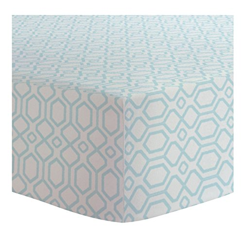 Kushies Portable Play Pen Fitted Sheet Flannel, Octagon Turquoise