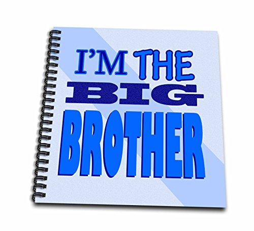 3dRose Im The Big Brother Blue - Memory Book, 12 by 12-Inch (db_13829_2) (Big Brother Photo Book)