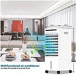 QUARED-4-in-1-Condizionatore-dAria-portatile-Raffreddatore-dAria-Air-Cooler-Ventilatore-Evaporativo-con-serbatoio-dellacqua-da-5-litri-3-modalita-3-velocita-telecomando-Timer