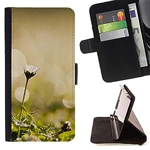 For HTC One A9 Case , Planta Naturaleza Forrest Flor 45- la tarjeta de Crédito Slots PU Funda de cuero Monedero caso cubierta de piel