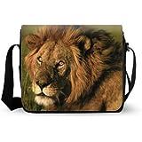 Crossbody Shoulder The King Lion Messenger Bag in Oxford