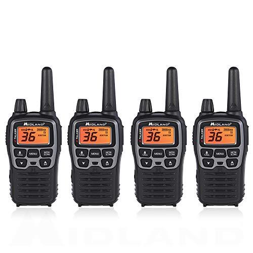 Midland T71VP3 36 Channel FRS Two-Way Radio - Up to 38 Mile Range Walkie Talkie - Black/Silver (Pack of ()