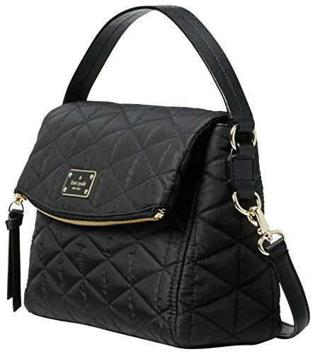 Kate Miri Spade Bag Handbag Nylon Cross Road Body Wilson Women's Quilted Black FwF7rOp