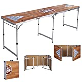 MD Group Folding Beer Pong Table Portable 8' Aluminum Foldable Game Party Indoor Outdoor Sports
