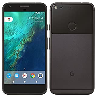 """PIXEL Phone by Google - 128GB - 5"""" inch - Android Nougat - Factory Unlocked 4G/LTE Smartphone (Quite Black) - International Version with No Warranty"""