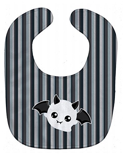 Caroline's Treasures Halloween Ghost Baby Bib, Bat, Large]()