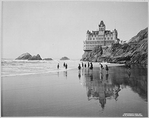 Lone Star Art Cliff House and Seal Rocks San Francisco California Vintage Photo - 11x14 Unframed Print - Perfect Vintage Beach House ()