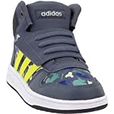adidas Unisex Hoops Mid 2.0 Sneaker, Dark Blue/White, 3.5 M US Big Kid