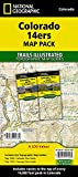 Colorado 14ers [Map Pack Bundle] (National Geographic Trails Illustrated Map)