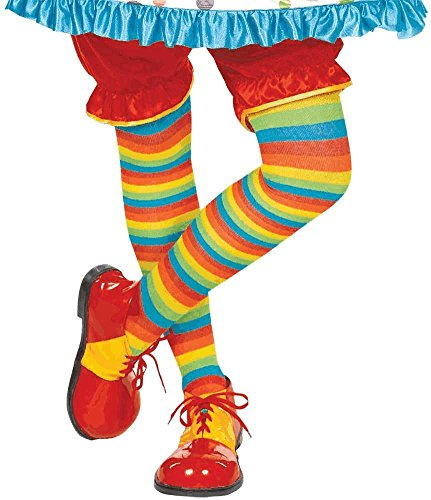 Amscan 840164 Rainbow Striped Tights Costume Outfits, Multicolored