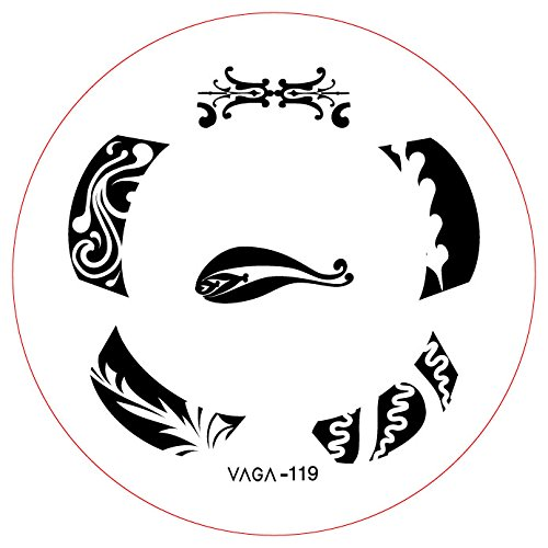 GA24 Professional Nail Art Salon Quality Stamp Template / Stamping Stencil / Image Plate With New Designs By VAGA