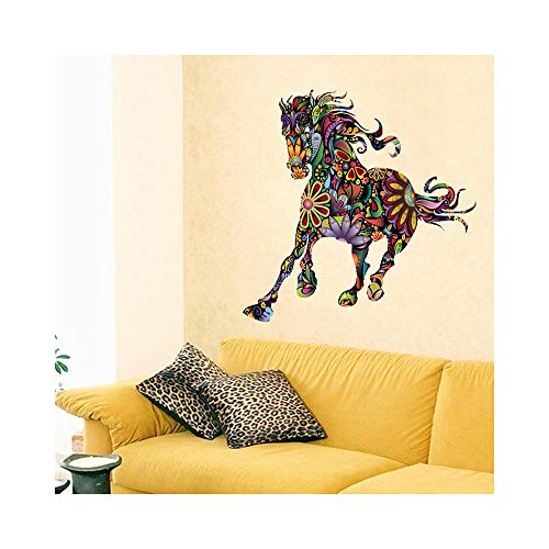 35 x 35 Inch Cartoon Personalized Horse Pattern Wall Sticker DIY Home Decor for Kids Room Bedroom Room Living Room Sofa TV Wall Decals Art adesivo de Parede Home Decoration Stickers Mural