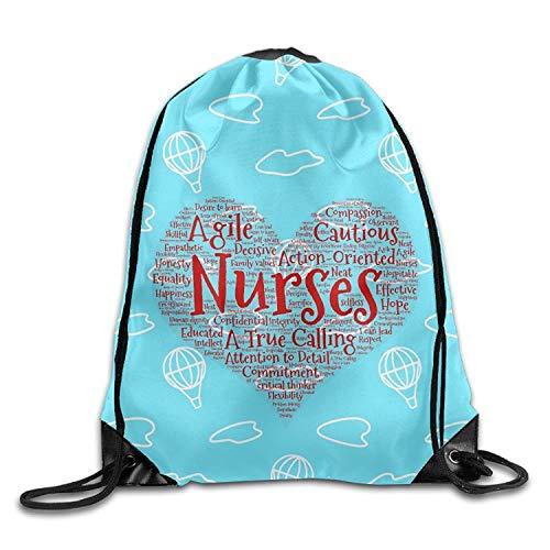 Uangdglu Nurses Day Nurses Are Everything Cool Drawstring Shoulder Bag Backpack Sackpack For Shopping Sport Travel -