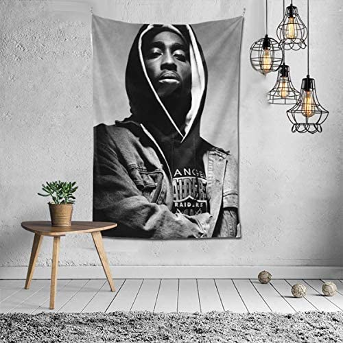 2PAC Poster Tapestry Wall Hanging Hippie Dorm Art Decor for Bedroom Living Room 60x40inch