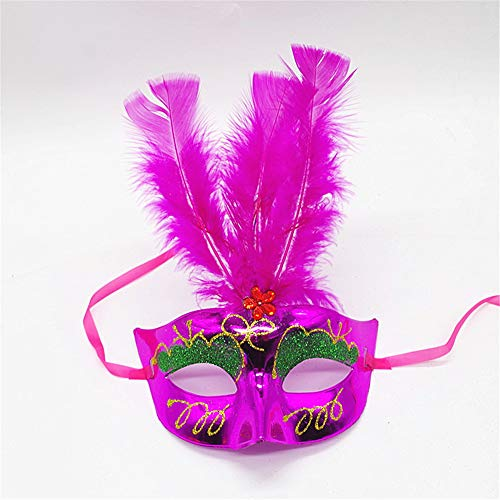 Feather Mask Masquerade Party Props Female Princess Mask Children's Toys 4 -