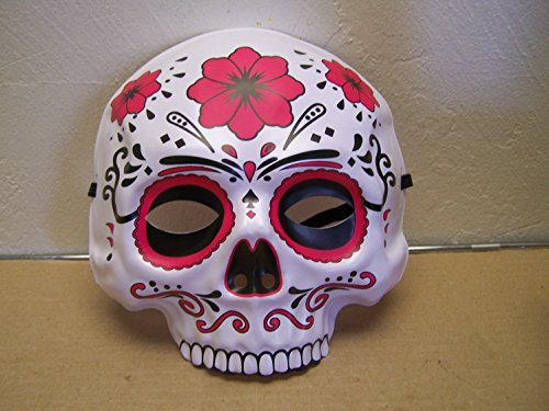 Dia de los Muertos Day of the Dead Sugar Skull Halloween Mask - -