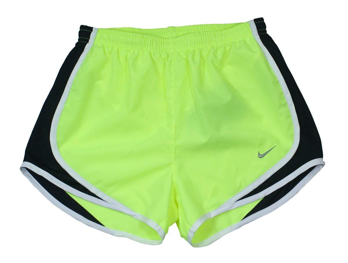 Nike Women's Dri-FIT Tempo Track 3.5 Short, Volt/Black/White/Matte Silver XS X by Nike (Image #1)