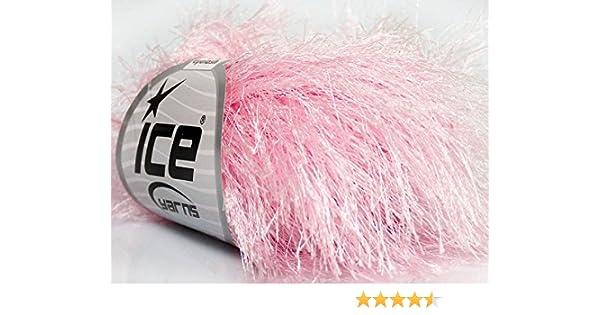 White Eyelash Yarn Ice Solid White Fun Fur 22745 50Gram