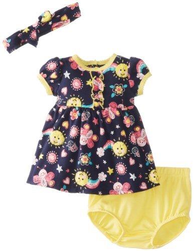 Vitaminas Baby Baby-Girls recién nacido Sol y el paquete de mariposa vestido Set,
