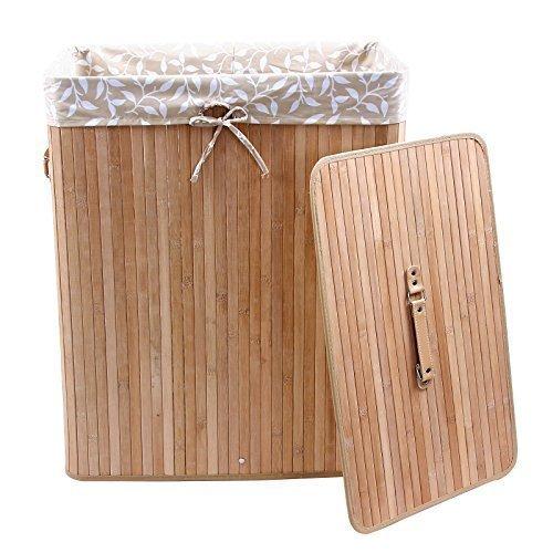 Songmics 100 L Bambus Faltbar Wäschekörbe Wäschebox LCB66Y