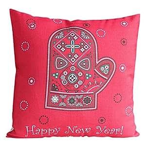 De la Navidad de los guantes de algodón/lino LYF funda de almohada decorativa No