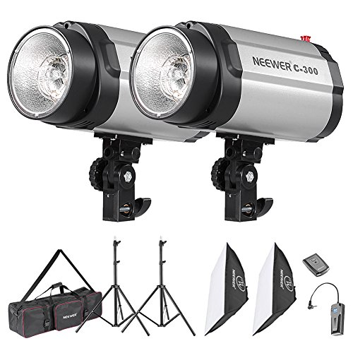 Neewer 600W Photo Studio Monolight Strobe Flash Light Softbox Lighting Kit with Carrying Bag for Video Shooting,Location and Portrait Photography(300DI) by Neewer