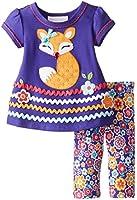 Bonnie Baby Baby-Girls Newborn Fox Appliqued Floral Legging Set