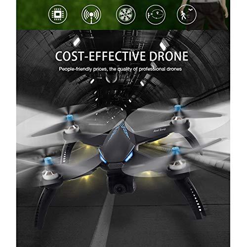 Ourine ドローン 宙返り ワンキーリターン機能搭載 4軸ジャイロ iPhone&Android 低電圧アラーム 折りたたみ式 初心者/プロモード FPV GPS搭載 高度維持機能 LEDランプ 1080P広角HDカメラ USB式 英語説明書 B5W (青)