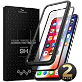 Kelpie iPhone XS Max Screen Protector, [3D Full Coverage] Tempered Glass Screen Protector for Apple iPhone XS Max 6.5-Inch (2018) with Alignment Frame [9H Hardness] [Bubble-Free]