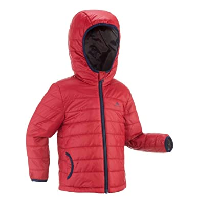 fe18414ab QUECHUA Burgundy MH Kid Hiking Padded Jacket  Amazon.co.uk  Clothing