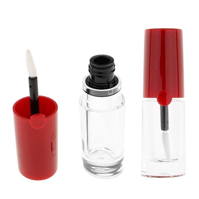 D DOLITY 2 Pedazos 5ml Vial de Lápiz Labial Estuche de Plástico de Brillo de Labios Botella de Viaje: Amazon.es: Belleza